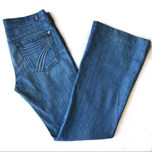 7 For All Mankind Dojo Flare Jeans 28 7FAM